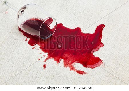 Red wine is poured