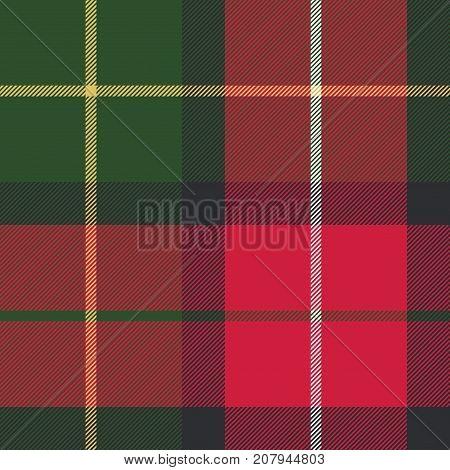 Tartan plaid diagonal seamless fabric texture. Vector illustration.