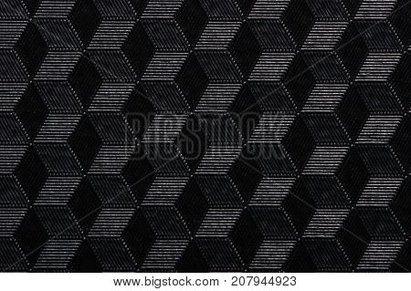 Abstract geometric background with cubes in black