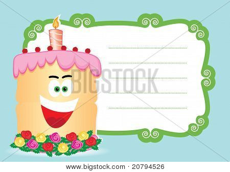 Cake with candle for birthday