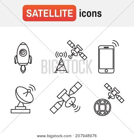 Black Wireless Icons. Set Icons For Wifi Vector