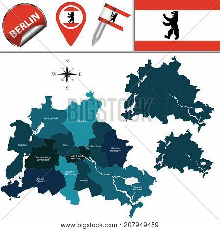 Map Of Berlin With Boroughs