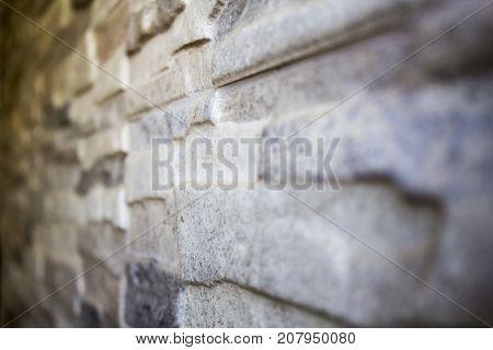 Gray stone wall, monochrome stone texture backround
