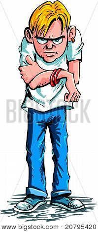 Cartoon of a sulky teen