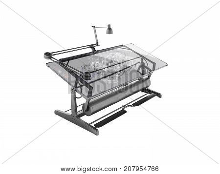 Electronic Culm Drawing Drawing 3D Rendering On White Background No Shadow