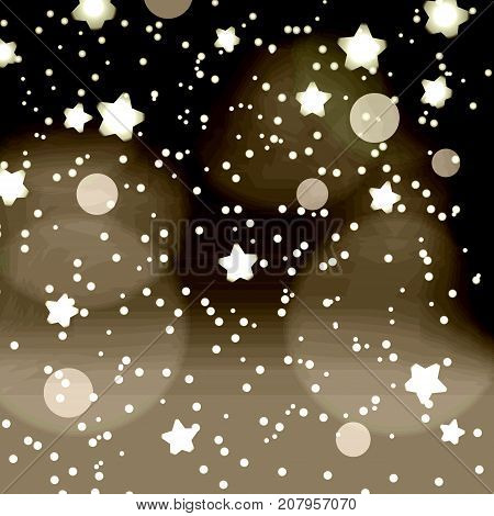 Abstract Dark Night Dots And Stars Retro Bokeh Background Eps10