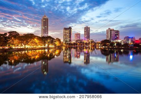 Colombo City Skyline View