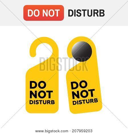 Do Not Disturb Door Sign. Do Not Disturb Vector