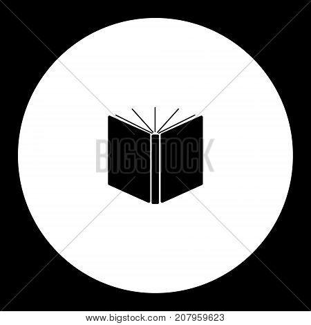 Big Open Book Simple Black Icon Eps10