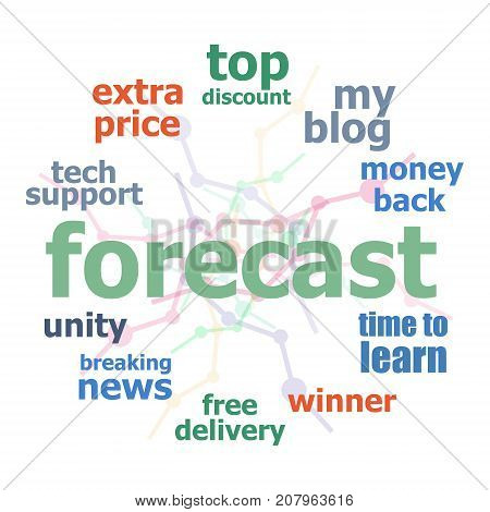 Text Forecast. Business concept. Word collage on white
