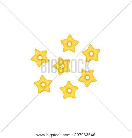 Italian cuisine. Pasta stelline. Vector illustration cartoon flat icon isolated on white.