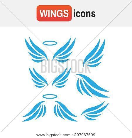 Vector Sketch Of Angel Wings. Angel Wings Vector