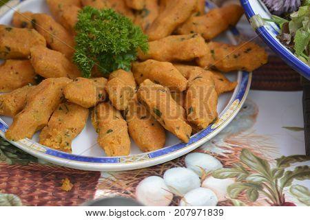 Bulgar Kofte a delicious Turkish Tapas oa a plate