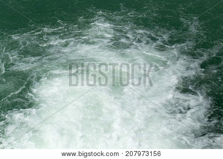 rough water on the surface . In the park in nature