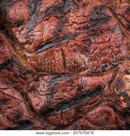 Closeup Of Juicy Beef Steak Texture