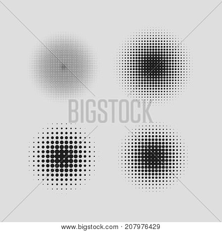 halftone circle vector  comic texture gradient half tone