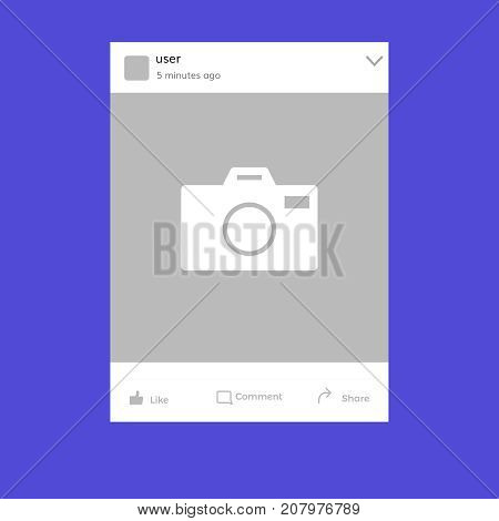 post template vector  social network vector frame