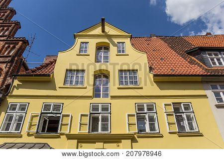 Colorful Facade At The Historic Harbor Of Luneburg