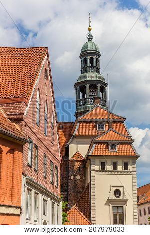 Tower Of The Town Hall In The Historic Center Of Luneburg