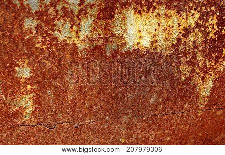 Texture Of An Old Rusted Metal Iron Sheet. Rust Texture Backdrop