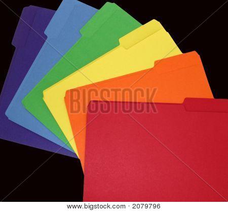 Rainbow Of File Folders