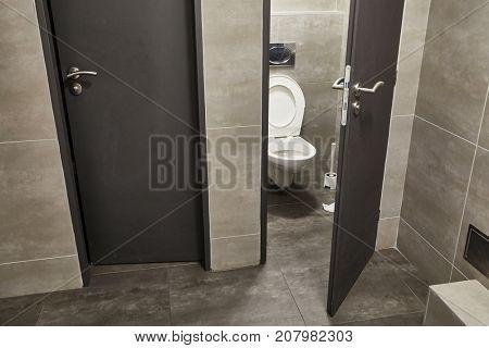 Toilet in a public building
