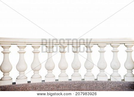 stone railings isolated on a white background