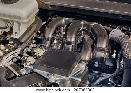 Detail of a car engine