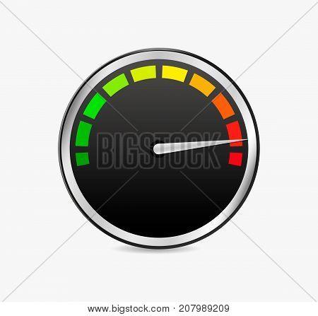 speed test meter vector measure icon 3d speedometer
