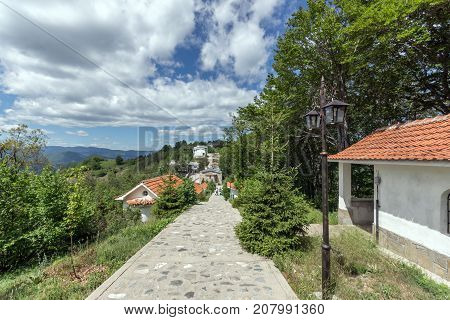 KRASTOVA GORA, BULGARIA - MAY 25, 2013: Amazing view of churches in  Krastova gora (Cross Forest) , Rhodope mountain, Bulgaria