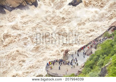 Tiger Leaping Gorge, One Of The Deepest And Most Spectacular River Canyons In The World.