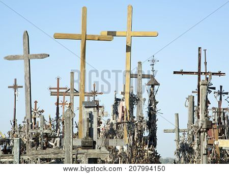 The Hill of Crosses is a unique place in Lithuania with over two hundred thousand crosses brought by people since 1831.