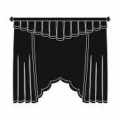 Cornice single icon in black style.Cornice, vector symbol stock illustration . poster