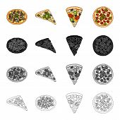 Snack, ingredients, ration and other  icon in cartoon style.Pizza food, treats, icons in set collection. poster