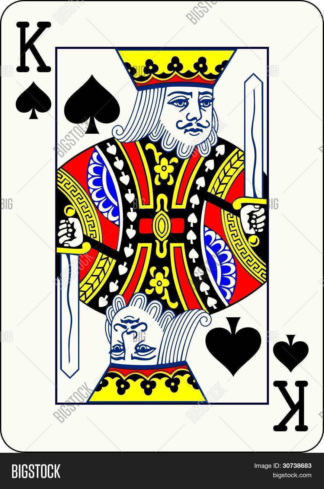 King Spades Vector Vector Photo Free Trial Bigstock