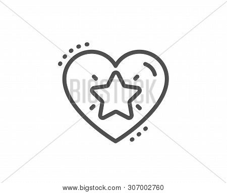 Ranking Star Line Icon. Love Rating Sign. Best Rank Symbol. Quality Design Element. Linear Style Ran