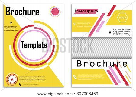 Abstract Vector Business Template Set. Brochure Layout, Cover Modern Design Annual Report, Poster, A