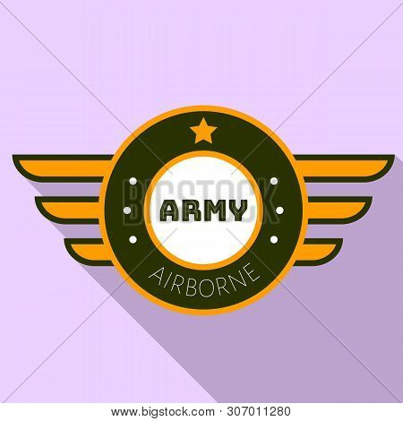 Army Airborn Logo. Flat Illustration Of Army Airborn Vector Logo For Web Design