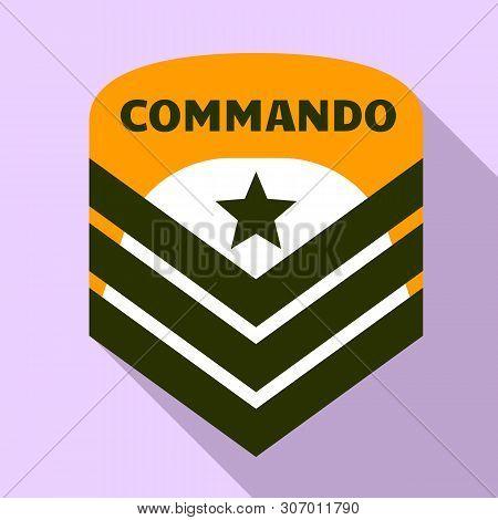 Commando Air Star Logo. Flat Illustration Of Commando Air Star Vector Logo For Web Design