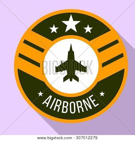 Airborne Logo. Flat Illustration Of Airborne Vector Logo For Web Design