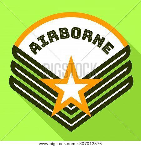 Star Airborne Logo. Flat Illustration Of Star Airborne Vector Logo For Web Design