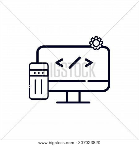 Software Icon Isolated On White Background From Virtual Reality Collection. Software Icon Trendy And