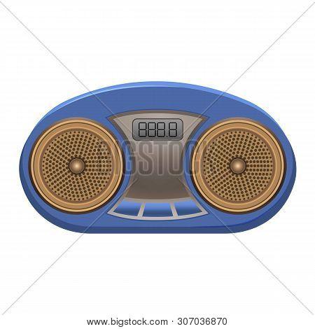 Portable Radio Icon. Cartoon Of Portable Radio Vector Icon For Web Design Isolated On White Backgrou