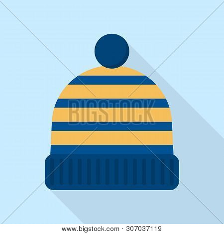 Winter Beanie Icon. Flat Illustration Of Winter Beanie Vector Icon For Web Design