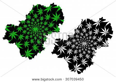 Kaluga Oblast (russia, Subjects Of The Russian Federation, Oblasts Of Russia) Map Is Designed Cannab