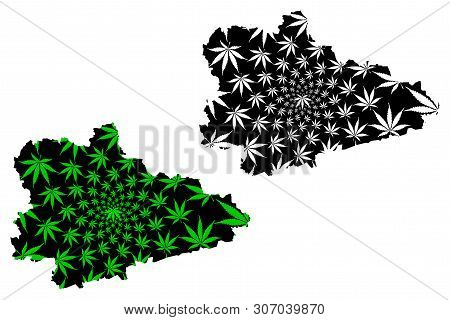 Kurgan Oblast (russia, Subjects Of The Russian Federation, Oblasts Of Russia) Map Is Designed Cannab