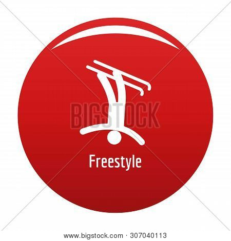Freestyle Icon. Simple Illustration Of Freestyle Vector Icon For Any Design Red