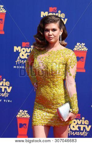 LOS ANGELES - JUN 15:  Chanel West Coast at the 2019 MTV Movie & TV Awards at the Barker Hanger on June 15, 2019 in Santa Monica, CA