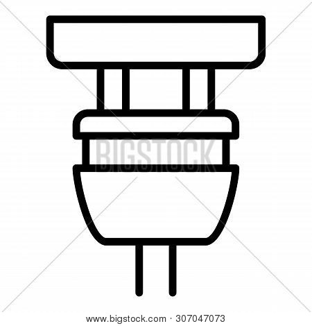 Plugged Plug Icon. Outline Plugged Plug Vector Icon For Web Design Isolated On White Background