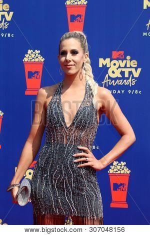 LOS ANGELES - JUN 15:  Ashley Slack at the 2019 MTV Movie & TV Awards at the Barker Hanger on June 15, 2019 in Santa Monica, CA